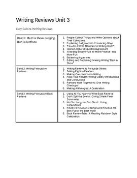 Writing Workshop Lucy Calkins First Grade Writing Review Lesson Summary Unit 3