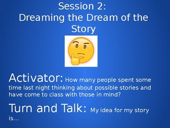 Lucy Calkins Writing Unit 1, Session 2 Dreaming the Dream of the Story