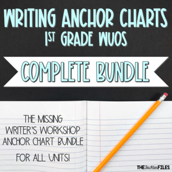 Lucy Calkins Writing Workshop Anchor Charts 1st Grade ALL UNITS WUOS {BUNDLE}