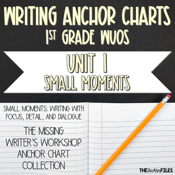Lucy Calkins Writing Workshop Anchor Charts 1st Grade WUOS (Unit 1 Small Moment)