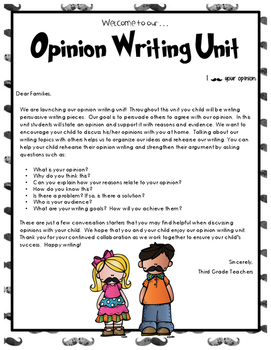 Lucy Calkins Writing Workshop Opinion Writing Lesson 1 Grade 3