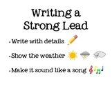 Lucy Calkins Writing a Strong Lead Poster
