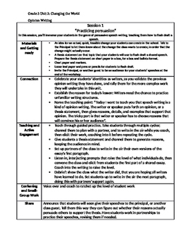 Lucy Calkins Writing summary, Grade 3 Unit 3, Changing the