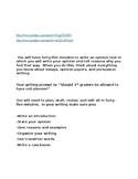 Lucy Caulkins- 3rd Grade Persuasive Writing Intro