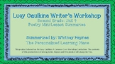 Lucy Caulkins Summaries - Writing Workshop (2nd Grade - Unit 4: Poetry)