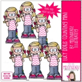 Lucy Doris Counting clip art - Mini - by Melonheadz Clipart