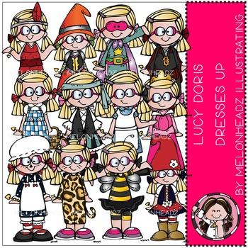 Lucy Doris clip art - Dresses up - by Melonheadz
