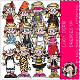 Lucy Doris Dresses up clip art - COMBO PACK- by Melonheadz