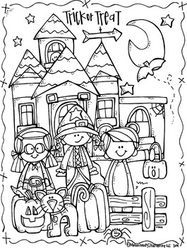 Lucy Doris Halloween coloring Page Freebie by Melonheadz