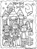 Lucy Doris Halloween coloring Page Freebie - by Melonheadz