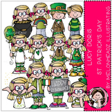 Lucy Doris St Patrick's Day clip art - by Melonheadz