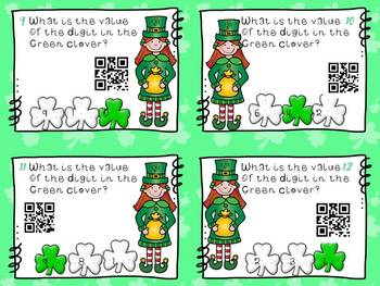 Lucy Leprechaun Knows the Value of the Digits in Her Numbers -Using QR codes
