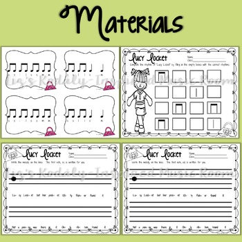 Lucy Locket: A song to teach la and quarter note and eighth notes