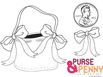 Lucy Locket Purse and Penny Clip Art Set