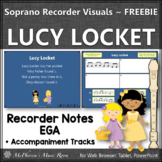 Soprano Recorder Song ~ Lucy Locket Interactive Visuals {Notes EGA} FREEBIE