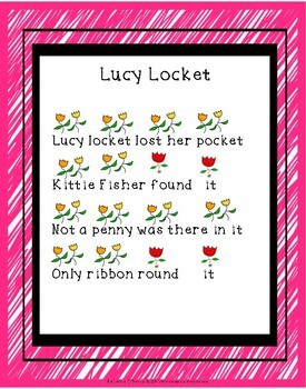 Lucy Locket Singing Game for ta and titi and sol mi la