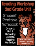 Lucy Reading Workshop - 2nd Grade Notebook - Unit 2