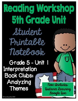 Lucy Reading Workshop - 5th Grade Notebook - Unit 1