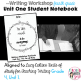 Lucy Writing Notebook: Grade Four, Unit One: The Arc of Story