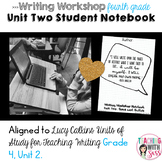 Lucy Writing Notebook: Grade Four, Unit Two: Boxes and Bullets