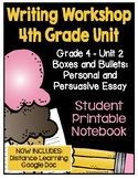 Lucy Writing Workshop: 4th Grade Notebook - Unit 2 - Dista