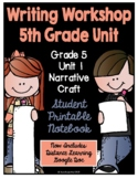 Lucy Writing Workshop: 5th Grade Notebook - Unit 1 - Dista