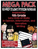 Lucy Writing Workshop - MEGA PACK 4th Grade Notebook
