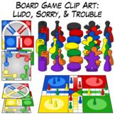 Ludo, Sorry, & Trouble | Board Game Clip Art
