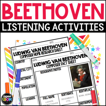 Ludwig Van Beethoven, Classical Composer Music Unit Study, December Birthday