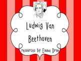 Ludwig van Beethoven! A resource pack with information and activities.