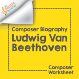 Ludwig van Beethoven | Composer Biography & Worksheet