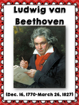 Ludwig van Beethoven Composer of the Month Bulletin Board {Video Links}