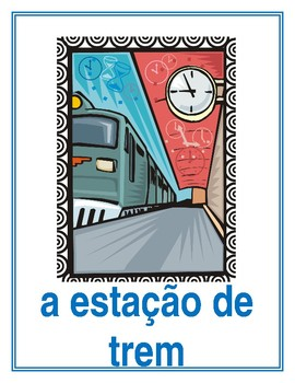 Lugares (Places in Portuguese) Posters