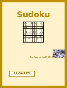 Lugares (Places in Portuguese) Sudoku