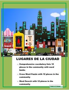 Lugares de la Ciudad- Thematic Unit-  Places in the City -Spanish