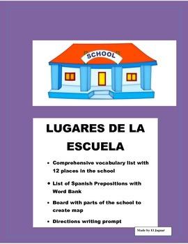 Spanish Places in the School - Lugares de la Escuela/Direc