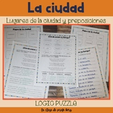 La ciudad y preposiciones The city and prepositions Logic Puzzle
