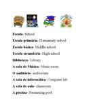 Lugares na escola e disciplinas