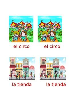 Lugares que vamos en familia  Vocabulario -Pareo (editable)