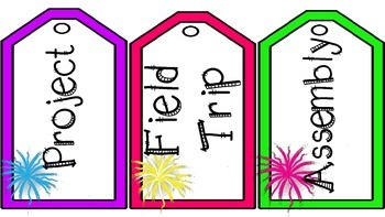 Luggage Tag Schedule Cards