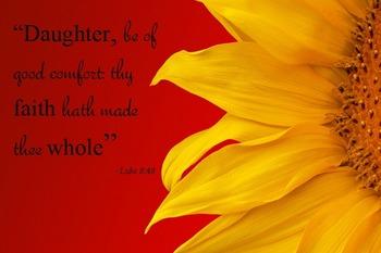 "{FREEBIE}Luke 8:48 ""Thy Faith hath made thee Whole"" Poster"