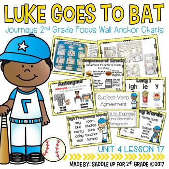 Luke Goes to Bat Focus Wall Anchor Charts and Word Wall Cards