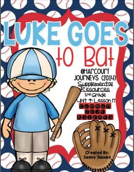 Luke Goes to Bat (Journeys 2nd Grade - Supplemental Materials)