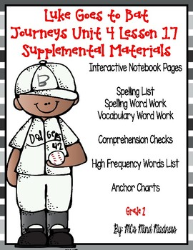 Luke Goes to Bat Journeys Unit 4 Lesson 17