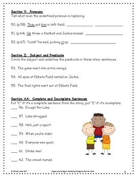 Luke Goes to Bat ~ Language Arts Workbook ~ 2nd Grade ~ Journeys