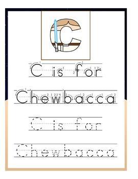 Luke Skywalker Preschool Handwriting Pack