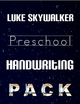 Luke Skywalker Preschool Handwriting Pack
