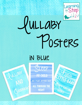 Lullaby Posters (in blue)