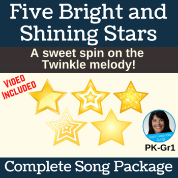 "Lullaby with Actions | ""Five Bright and Shining Stars"" 