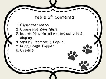 Lulu Walks the Dogs Graphic Organizers & More!